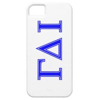 Gamma Delta Iota (Blue Letters) iPhone 5 Covers