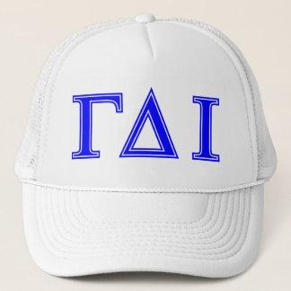 Gamma Delta Iota (Blue Letters) Trucker Hat