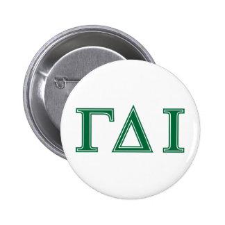 Gamma Delta Iota (Green Letters) Button