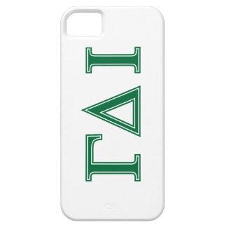 Gamma Delta Iota (Green Letters) iPhone 5 Cover