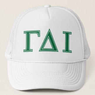 Gamma Delta Iota (Green Letters) Trucker Hat