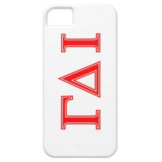 Gamma Delta Iota (Red Letters) iPhone 5 Case