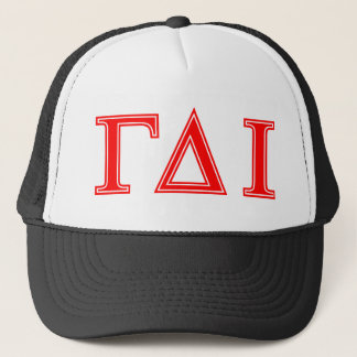Gamma Delta Iota (Red Letters) Trucker Hat