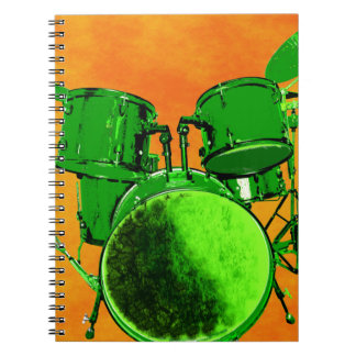 Gamma Green and Drum Set Notebook