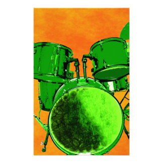 Gamma Green and Drum Set Stationery