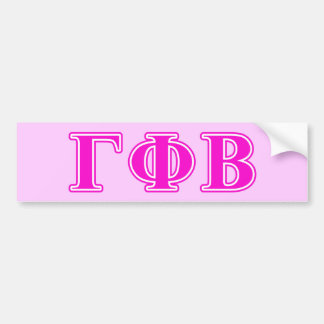 Gamma Phi Beta Bright Pink Letters Bumper Sticker