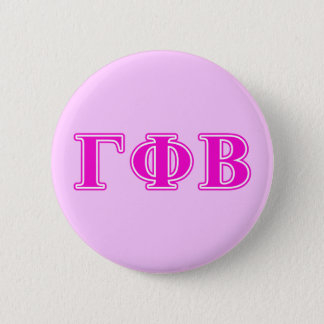 Gamma Phi Beta Bright Pink Letters Button