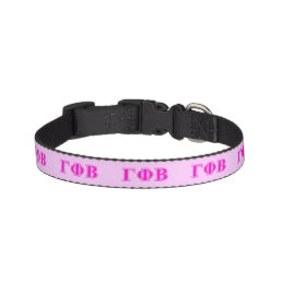 Gamma Phi Beta Bright Pink Letters Pet Collar