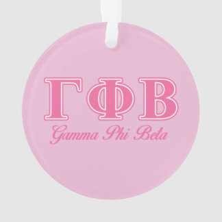 Gamma Phi Beta Pink Letters