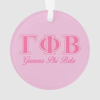 Gamma Phi Beta Pink Letters Ornament