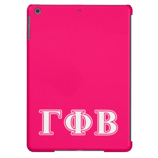 Gamma Phi Beta White and Pink Letters iPad Air Covers