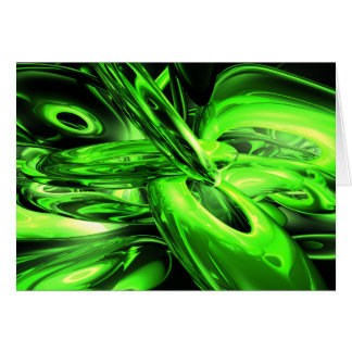 Gamma Radiation Abstract Card