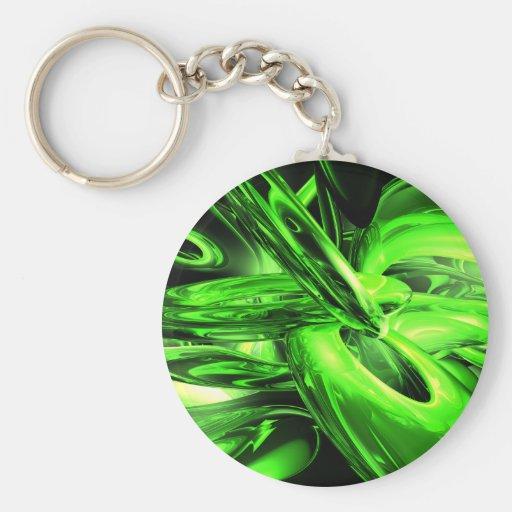 Gamma Radiation Abstract Keychain