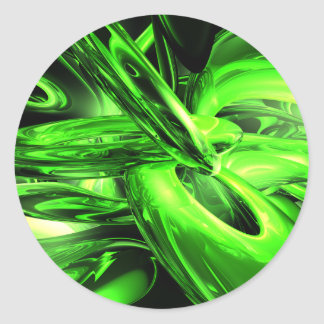 Gamma Radiation Abstract Sticker