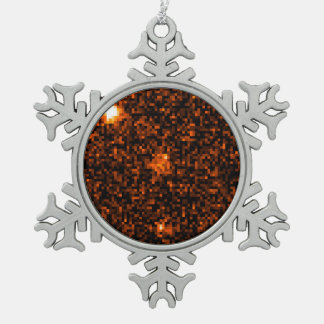 Gamma Ray Burst Snowflake Pewter Christmas Ornament