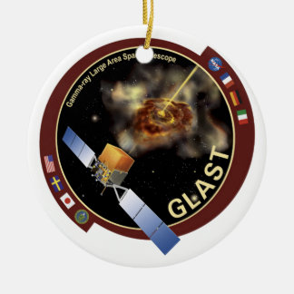 Gamma-ray Large Area Space Telescope (GLAST) Double-Sided Ceramic Round Christmas Ornament