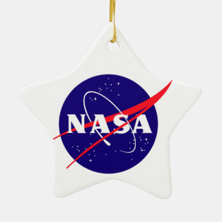 Gamma-ray Large Area Space Telescope (GLAST) Double-Sided Star Ceramic Christmas Ornament