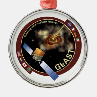Gamma-ray Large Area Space Telescope (GLAST) Round Metal Christmas Ornament