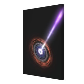 Gamma Rays in Galactic Nuclei Canvas Print