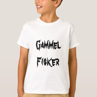 Gammel FIsker, old fisherman  in Norwegian T-Shirt