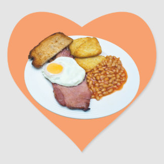 Gammon Egg and Beans Heart Sticker