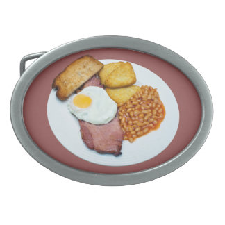 Gammon Egg and Beans Oval Belt Buckle