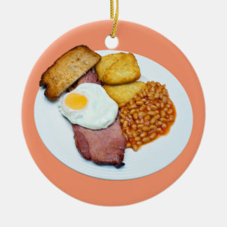 Gammon Egg and Beans Round Christmas Ornament