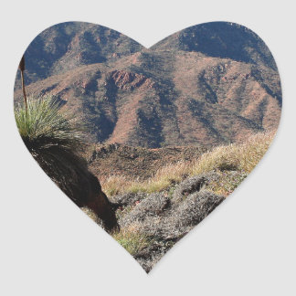 Gammon Ranges, Outback Australia Heart Sticker