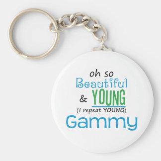Gammy hermoso y joven llavero redondo tipo pin