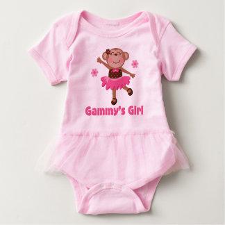 Gammy's Girl Grandchild Monkey Ballerina Tutu Tee