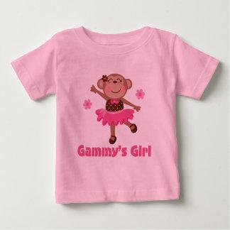 Gammys Girl Monkey Baby T-Shirt