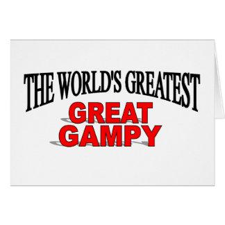Gampy más grande del mundo el gran tarjeta de felicitación