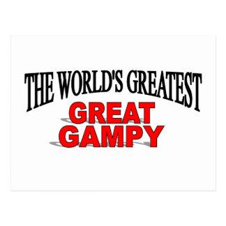 Gampy más grande del mundo el gran tarjetas postales
