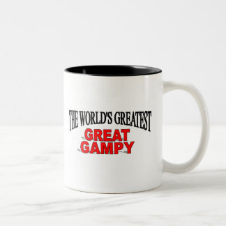 Gampy más grande del mundo el gran taza de dos tonos