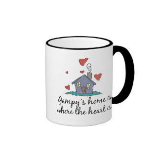 Gampy's Home is Where the Heart is Ringer Coffee Mug