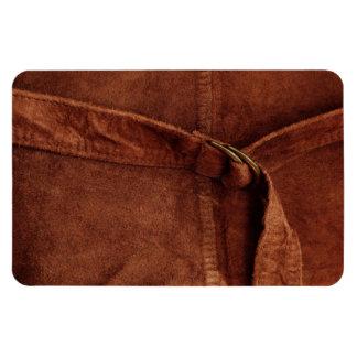 Gamuza marrón con la correa y la hebilla imán de vinilo