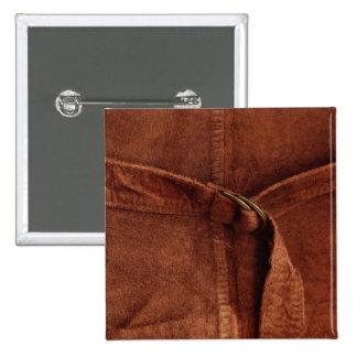 Gamuza marrón con la correa y la hebilla pin cuadrada 5 cm