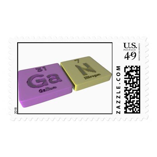 Gan as Ga Gallium and P Phosphorus Stamps