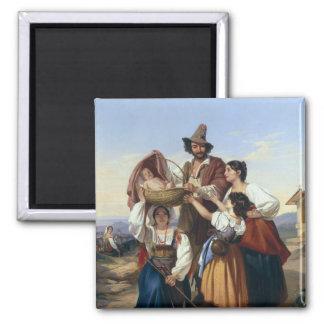 Ganadero italiano, 1835 imán cuadrado