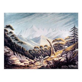 Ganaderos nepaleses en el Himalaya, 1826 Tarjetas Postales