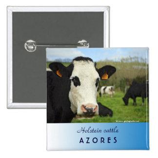 Ganado de Holstein Pin Cuadrada 5 Cm
