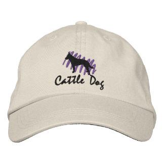Ganado garabateado perro gorras bordadas
