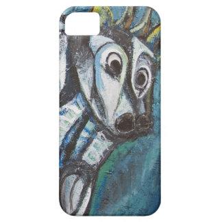 Ganado Jeweled azul (pintura animal abstracta) iPhone 5 Case-Mate Cárcasa