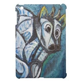 Ganado Jeweled azul (pintura animal abstracta) iPad Mini Funda