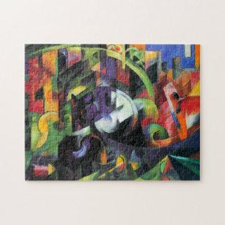 Ganado o Rinder de Franz Marc, extracto del Puzzles