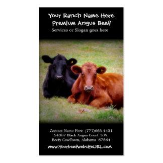 Ganado que cultiva el rancho de la carne de vaca tarjetas de visita
