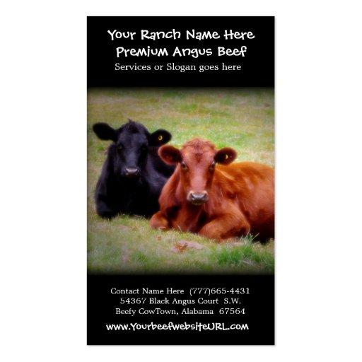 Ganado que cultiva el rancho de la carne de vaca tarjeta de visita