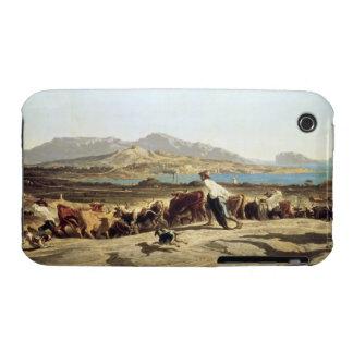 Ganado que reúne cerca de Marsella, 1853 (aceite e Case-Mate iPhone 3 Funda