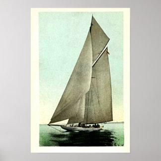 Ganador 1903 de la taza de América del yate de la  Posters