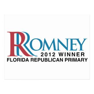Ganador 2012 la Florida primaria Tarjetas Postales